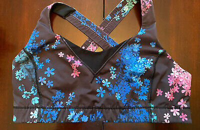 $ CDN39.99 • Buy Lululemon In A Flash Bra Size 12 Petal Pop Multi Strappy Floral Crossback