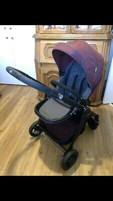 Pram, Pushchair And Car Seat 3 In 1 Travel System Graco Crimson • 70£