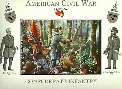 £11.20 • Buy A Call To Arms American Civil War Confederate Infantry Plastic Soldier 1:32