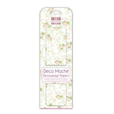 £4.96 • Buy Job Lot 10 Packs Of First Edition Deco Mache Papers – Peach Rose - DM083 New