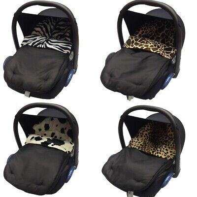 £9.99 • Buy Animal Print Car Seat Footmuff / Cosy Toes Baby Compatible With Bebecar