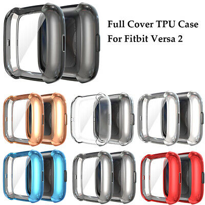 $ CDN2.77 • Buy Case For Fitbit Versa 2 Screen Protector Ultra Slim Cover TPU Soft Shockproof