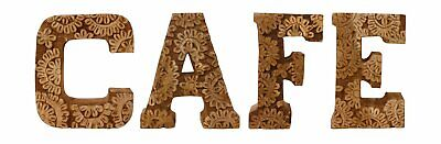 Free Standing Wooden Hand Carved Flower Cafe Letter Sign Shabby Chic Plaque 20cm • 33.92£