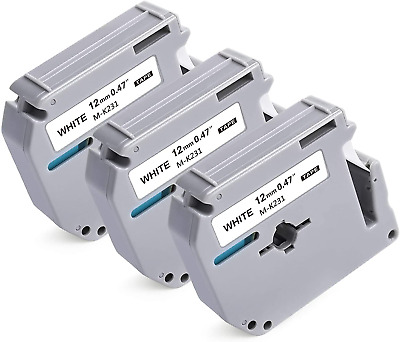 $13.84 • Buy Compatible Label Tape Replacement For Brother M Tape M-231 M-K231s 12mm 0.47 On
