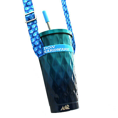 £20 • Buy Steel Metal Cup With Lid And Straw Neck Strap Holder Tumbler Music Festival Gig