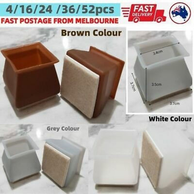 AU18.04 • Buy Square Silicone Dining Chair Leg Protector Cap Pad Table Feet Wood Floor Protect