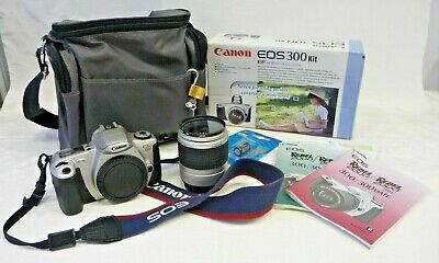 £59.99 • Buy Canon EOS 300 35mm SLR Film Camera Kit With 28-90mm Lens Box & Case (AT)