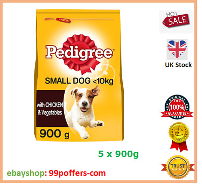 £14.50 • Buy Pedigree Dry Food, Adult Small Dogs 5-10 Kg With Chicken Vegetables, 5 X 900g