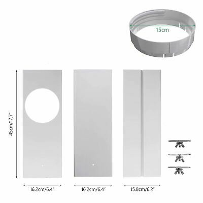 AU33 • Buy 3pc 120cm Adjustable Portable Air Conditioner Wind Shield Window Slide Kit Plate