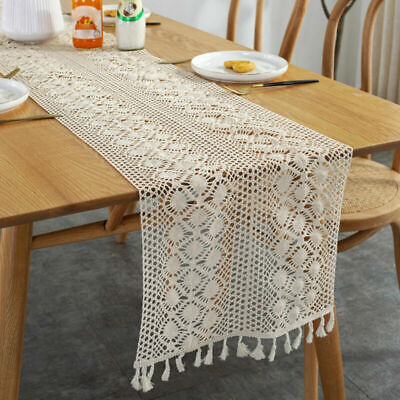 AU23.02 • Buy Vintage Crochet Lace Table Runner Doily Dining Mats Wedding Party Banquet Decor