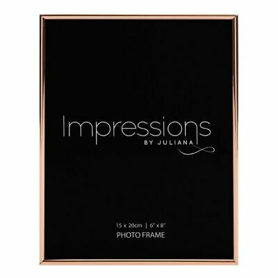 £9.50 • Buy NEW Impressions By Juliana Copper Plated Thin Edged Photo Frame 6  X 8  815668C