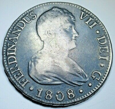 AU393.50 • Buy 1808 CN Spanish Seville 8 Reales Antique 1800's Old Colonial Silver Dollar Coin