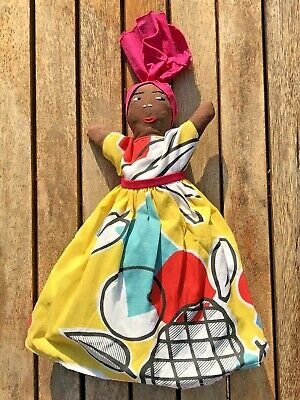 £7 • Buy Vintage Fabric African/Carribean Topsy Turvy Reversible Doll Traditional Costume