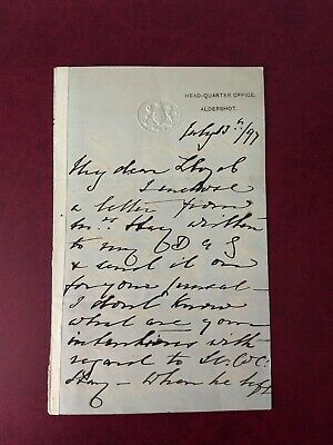 £114.99 • Buy 1897 Prince Arthur - Son Of Queen Victoria 4 Sided, Signed Handwritten Letter