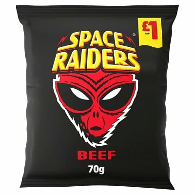 £14.99 • Buy 16 X 70g Bags Of Beef Flavoured Space Invader Snacks