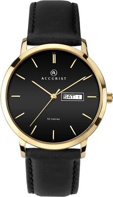£39.99 • Buy Accurist Mens Classic Black Strap And Black Dial Watch  7259