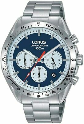 £44.99 • Buy Lorus Mens Chronograph Watch With Blue Dial And Silver Strap RT339HX9