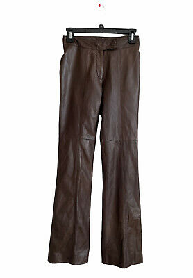 $ CDN157.36 • Buy Danier Leather Pant Women's Ladies Made In Canada Brown Size Fr34 Xs
