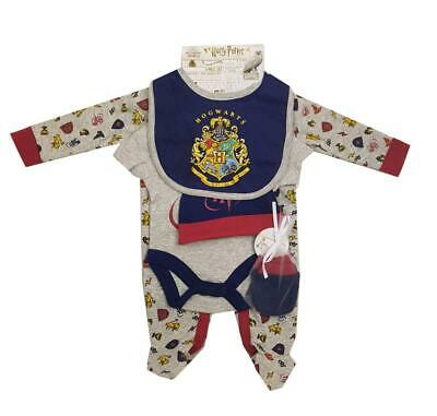 £15.95 • Buy Baby Boy Girl Harry Potter Outfit Layette Clothing Set Official Romper Bib Hat..