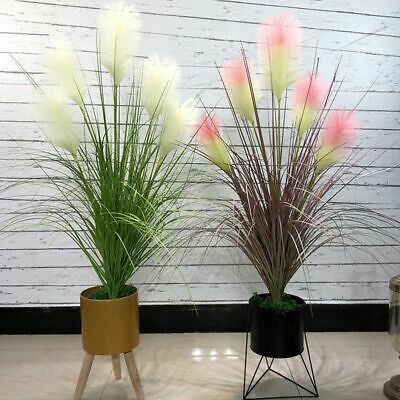 £28.09 • Buy Large Artificial Reed Plant Onion Grass Fake Tree Flowers Wedding Bouquet Pot