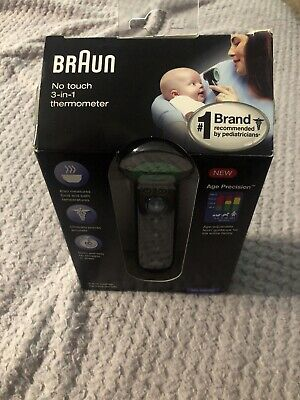 $ CDN30.35 • Buy Braun 3-in-1 No Touch Forehead Thermometer Black BNT400