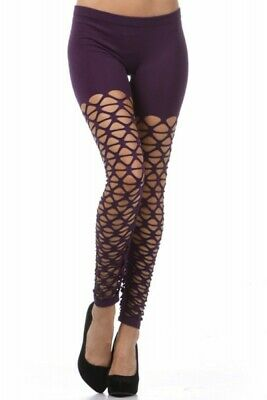 AU2.57 • Buy Crochet Leggings,  80s Leggings, Net Leggings, Purple Leggings, Fishnet Legging