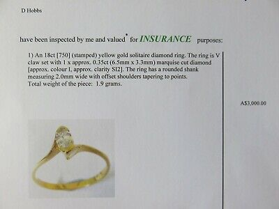 AU750 • Buy Clearance Sale! Valued $3000. 2 Rings 18ct Marquise Cut Diamond Ring Set