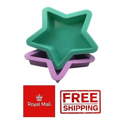 £3.59 • Buy  2 Stars Silicone Mould Chocolate Mold Baking Cake Wax Melts Soap