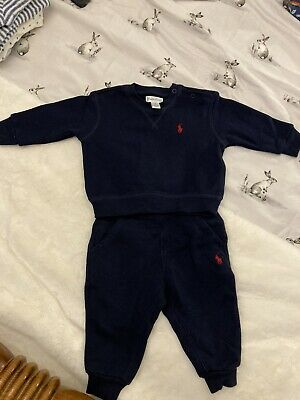 £20 • Buy Ralph Lauren Baby Boy Navy Tracksuit