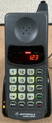 AU167.71 • Buy Motorola Pocket Classic 910 America Series Brick Cell Phone 80s Works + Charger