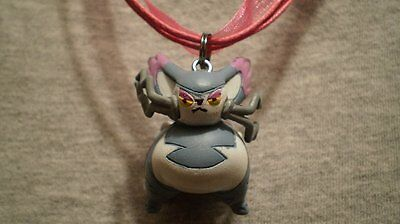 Pokemon Purugly Cat Figure Charm Anime Cute Necklace • 7.20£
