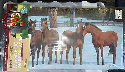 """$15.99 • Buy Studio M """"Winter Horse"""" Magnetic Mailbox Cover Excellent Quality USA Made NEW"""