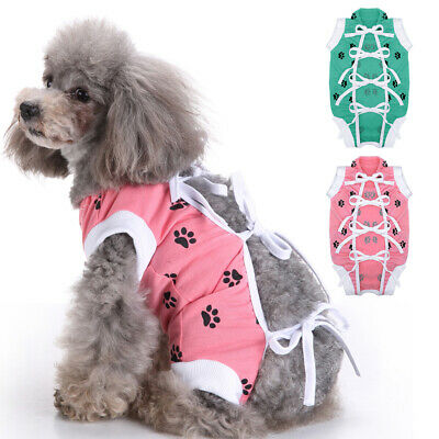 £9.20 • Buy Pet Dog Cat Surgery Recovery Clothes Wound Protector Suit For Small Medium Dogs