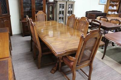 AU795 • Buy Vintage French Provincial Oak Extension Dining Table - Chairs In Another Listing