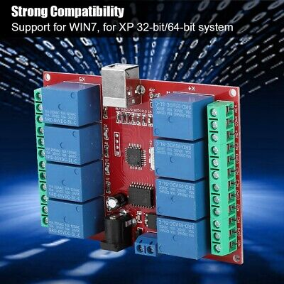 £6.36 • Buy 8-channel 5V Computer USB Intelligent Control Switch Relay Module Free Driver
