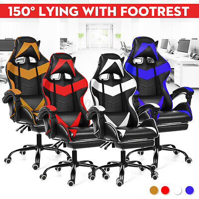 AU94.99 • Buy Racer Racing Gaming Office Chair Executive Computer Desk Seating Chair Recliner