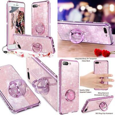 AU24.46 • Buy Iphone 8 Plus/ 7 Plus Case Glitter With Ring Holder Grip Kickstand For Women Gir