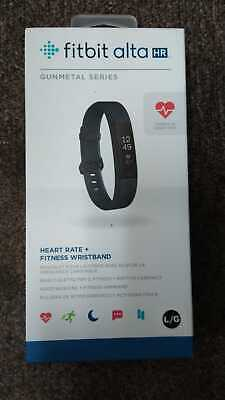 AU103.77 • Buy Fitbit Alta HR Hear Rate & Fitness Tracker, Gunmetal/Back Large