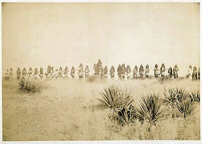 £4.89 • Buy Native American Apache Geronimo And Warriors Print Poster Wall Art Picture A4 +