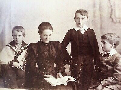 Cabinet Photo Mother & Smart Young Boys Sailor Suit Heath & Bradnee Of  Exeter  • 2.01£