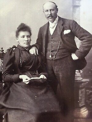 Cabinet Photo Of A Smart Couple Fashion Dress By  Walter G Cox Of Weymouth • 1.50£