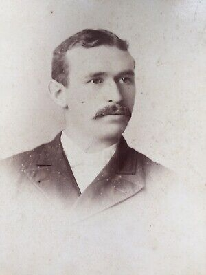 Cabinet Photo Handsome Young Man With Moustache Garber Broadway New York Usa  • 1.50£