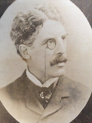 Cabinet Photo Sir Squire Bancroft Actor Wearing Monocle Eye Glass  • 2£
