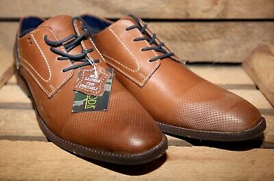 £14.99 • Buy Mens Café Moda Tan Leather Lace Up Formal Shoes Free Post