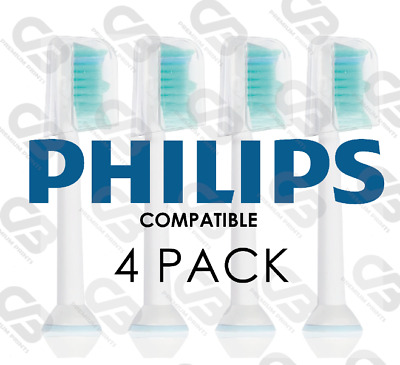 AU6.22 • Buy Electric Toothbrush Heads Compatible With Philips Sonicare Phillips W/Cap 4 PACK