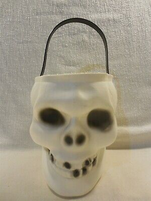 $ CDN15.66 • Buy Vintage Empire Halloween Blow Mold White Skull Candy Pail