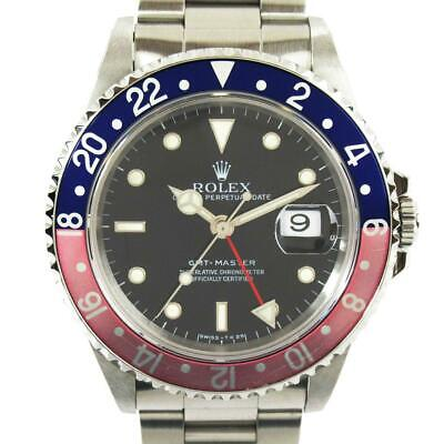 $ CDN13234.77 • Buy Rolex GMT Master Pepsi Watch Black Dial Stainless Steel 16700