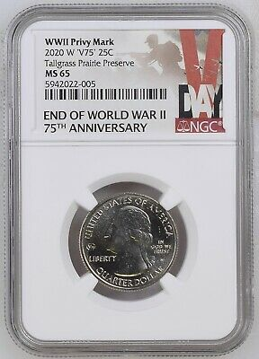 $ CDN19.95 • Buy 2020 W Tallgrass Prairie NGC MS 65 Privy V75 Quarter