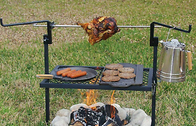 £48.87 • Buy Rotisserie Grill 24  X 16  Outdoor Campfire Cooking Camping Equipment Kitchen
