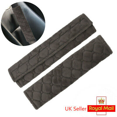£3.61 • Buy 2 X Car Seat Belt Cover Pads Car Safety Cushion Covers Strap Pad Universal Gray